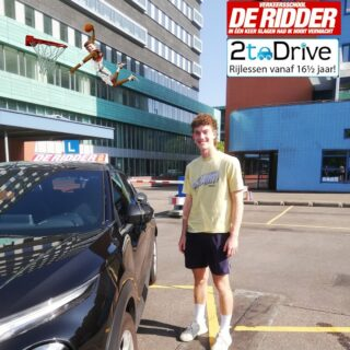 Zachary, you started learning driving Down Under, but had to finish it here in The Netherlands. Congratulations on passing your driving test the first time. Well done. I believe, in your sport it is called a slam dunk! Greetings, Keith.